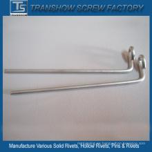 Pernos de gancho de alambre de acero galvanizado