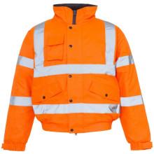 Orangefarbener reflektierender Parka für Arbeitskleidung