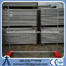 Proveedor de metal temporal valla paneles venta caliente con base de plástico clips tornillos