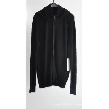 Hombres Invierno de punto unisex larga chaqueta con cremallera