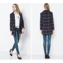 Europe Fashion Lady Long Coat for 2016 Winter Clothing