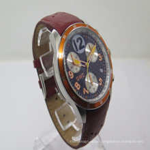 2015 Die neue Leder-Multifunktionsuhr (JA-150120)