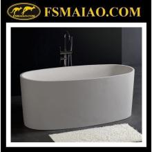 Эллипс freestanding ванна в твердую поверхность белого цвета (БС-8610)