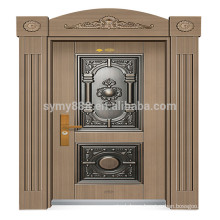 New Design Decorative Arch Top front Exterior Castle steel Door design