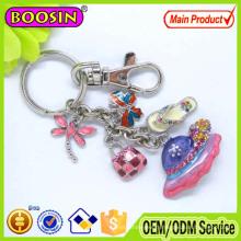 High Quality Metal Enamel Hangbag Handmade Keychain
