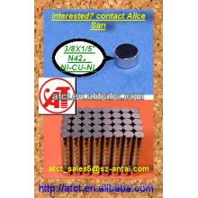 Pequeñas redondas mosquito magnet imán permanente imán
