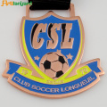 Soccer Metal Medal of Honor With Plating