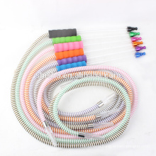 new design washable glass pipes soft plastic hookah shisha hose