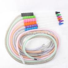 Новый дизайн моющиеся стеклянные трубы мягкие пластиковые кальян кальян шланг