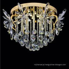 iluminação de cristal moderna luminárias de teto de ferro