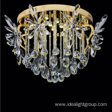 crystal lighting modern iron ceiling light fixtures