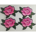 Custom Design Rose Stickerei Patch Eisen auf Jeans