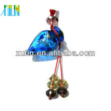 mini sea blue crystal glass beads perfume bottle glass pendant