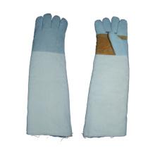 Kuh Split Schweißen Arbeit Handschuh Leinwand Backgauntlet Cuff Liner