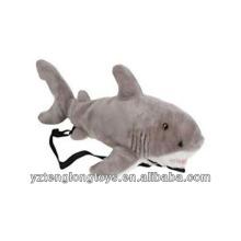 Factory Wholesale Animal Shaped Plush Backpack Shark Backpack