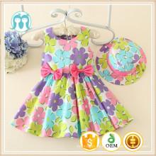 Venta caliente de una pieza niñas de alta calidad bebé niño vestido de fábrica venta directa vestido hermoso
