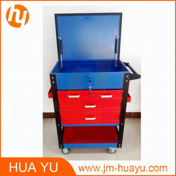 580 lb métal mobile 4 tiroirs fermant à clé coffre de chargement