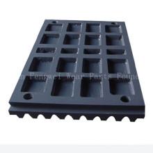 Plaque à mâchoires en acier au manganèse pour les pièces Metso Crusher