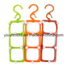 Molde de gancho de cinturón de plástico multifuncional