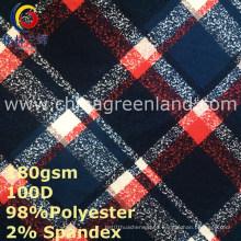 Tela hecha punto fibra de la leche del poliéster de Spandex Peached para la materia textil (GLLML361)
