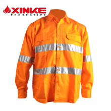 High visibility 100% cotton button shirts