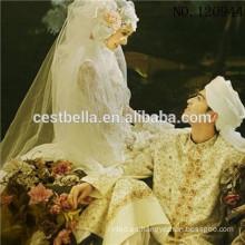 Venta al por mayor Arabia Aba Maxi vestido de novia islámica Kaftan vestido de novia