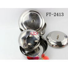 Stainless Steel 3PC Seasoning Pot (FT-2413-XY)