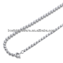 Factory Best Cost Metal Stainless Steel Ball Bead Chain Necklace