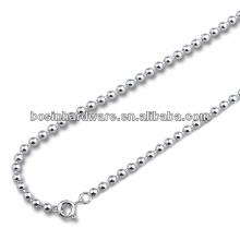 Fábrica Best Cost Metal Aço Inoxidável Ball Bead Chain Necklace