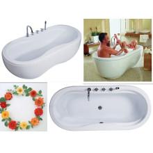 Upc Double Egg Bowl Bath Tub Cheap Soaker/Soaking Bath