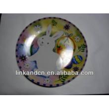Haonai 2014 plato de cerámica caliente del regalo del conejo de las ventas para los cabritos