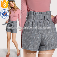 Tie Waist Inseam Pocket Side Shorts Manufacture Wholesale Fashion Women Apparel (TA3008B)