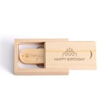 Engraving Logo Flash Drive Wood Usb Box