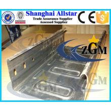 Automatique galvanisé acier câble plateau planche profileuse, rouleau de bac de câble faisant la machine