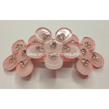 Flowers Acrylic Rhinestone Buckle, Garment Accessories, Shoes Accessories
