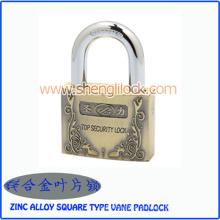 Top-Sicherheits-Zink-Legierung Square Type Vane Vorhängeschloss