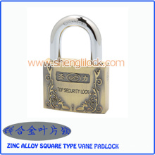 Top Security Zinc Alloy Square Type Vane Padlock