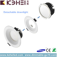 Lâmpada LED Downlights de 3,5 polegadas Prata 9 Watt