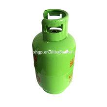 Nova promoção de tanque de cilindro de gás GLP com banco de moedas de alta precisão de 15 kg