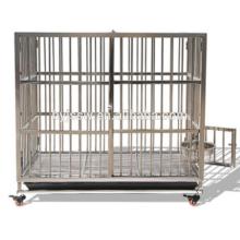 Caja de acero plegable de la jaula del perro de la barra del acero inoxidable y del perro para la venta