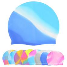 Colorido Silicona Nadar Cap / Protección Oído Nadar Cap