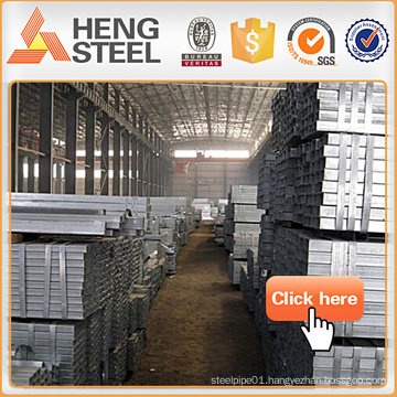 Alibaba steel galvanized square pipe Building Materials