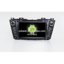 HOT!car dvd with mirror link/DVR/TPMS/OBD2 for 8 inch full touch screen 4.4 Android system MAZDA5