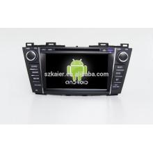 HOT! Dvd do carro com link espelho / DVR / TPMS / OBD2 para 8 polegada tela de toque completo 4.4 sistema Android MAZDA5