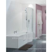 Nouveau design Walk in Bath Baignoire en acrylique en forme de P
