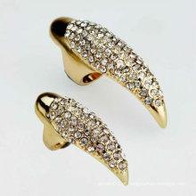 Moda punk estilo cristal garra de águia prego jóias anéis FR13