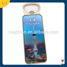 shanghai tourist souvenir fridge magnet with The oriental pearl tower printed