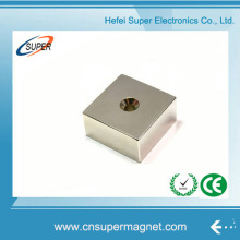 N35 Rare Earth Neodymium Block Magnet with Hole