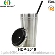 2017 Wholesale Stainless Steel Bottle, Coffee Mug with Straw (HDP-2016)