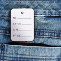 High Class Jeans Price Tag E Paper Hang Label Tag